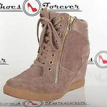 Steve Madden Gray Suede Ankle Boots Wedges Shoes Sz. 8 M Execllent Photo