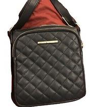 Steve Madden Handbag Bmarilyn Patent Black Quilted W/ Gold Hardware Adj Strap Photo