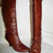 Steve Madden Heidi Brown Leather Tall Cuff Boots 10m Guc Make Offer Photo