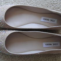 Steve Madden I-Dentfy Blush Suede Flats With Sparkle Toe Size 8 Photo