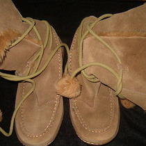 Steve Madden Iglou Tan Size 6 Suede Upper Tie Up Boots Photo