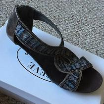 Steve Madden Kaboo Pewter Sandals Size 10 Tribal Blue Silver Photo