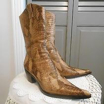 Steve Madden Kaden Cowboy Boots Tooled Leather Snake Western Kicks Sz-6 W/box Photo