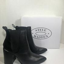 Steve Madden Knoxi Womens Size 7 Black Leather Pointed Toe Bootie Shoes Zf-485 Photo