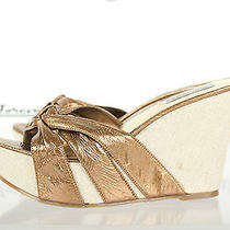 Steve Madden Ladies Stylish Bronze Wedges/slides Sz 8 Photo
