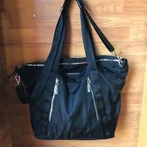 Steve Madden Large Black Tote Shoulder Laptop Hand Bag Purse Messenger  Photo