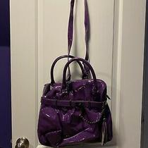 Steve Madden Large Purple Handbag With Crossbody Strap Included Photo
