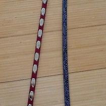 Steve Madden Leather Belts - Pink and Purple - Set of 2 - Large - New With Tags Photo