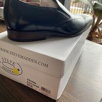 Steve Madden Leather Dress Shoe Devinn Mens Black Size 10 Brand New With Box Photo