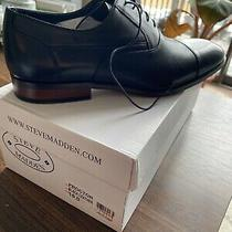Steve Madden Leather Dress Shoe Proctor Mens Black Size 10 Brand New With Box Photo