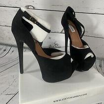 Steve Madden Levrage Black Pump Heel Size 8 Platform Highheel Photo