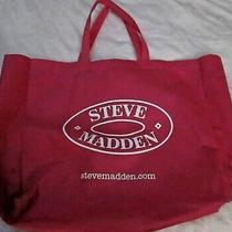 Steve Madden Lightweight Reusable Large Pink Fabric Shopping / Tote Bag  Photo