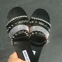 Steve Madden Lindy Studded Slides Black Multi Color Size 8.5 Us Photo
