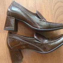 Steve Madden Loafer Square Toe Heels Size 6.5b  Photo