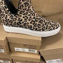 Steve Madden Loxer Leopard Slip on Wedge Sneakers Sz 8 Photo