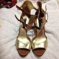 Steve Madden Luxe Size 10 Hold Ankle Strap Peep Toe Career Mothers Day Heel Photo