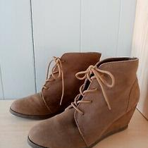 Steve Madden Madden Girl Suede Lace Up Booties Size 8 Women's Vegan Photo