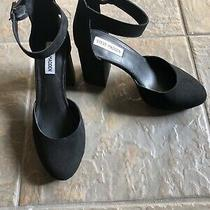 Steve Madden Marykate Black Suede Heels Size 9 Excellent Condition Photo