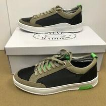 Steve Madden Men Casual Fashion Sneakers Rivel Black Tan Green Size 9 New Photo