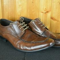 Steve Madden Mens Size 8.5 M-Pale  Brown Leather Square Toe Dress Shoes Photo