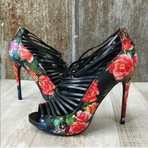 Steve Madden Messy Floral Heels 8.5 Photo