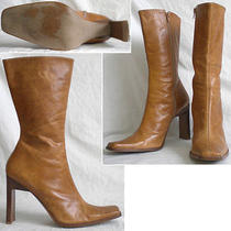 Steve Madden Mid-Calf Boots High Heels Platforms Shoes Jeannie Tan Brown 10 Photo