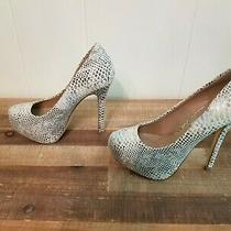 Steve Madden Nala Size 6m Women Shoes Snakeskin Print Photo