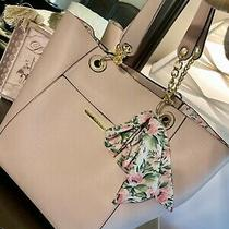 Steve Madden Nwt Bag in Bag Scarf/ Floral/ Blush Gold Chains/large Mother Day  Photo