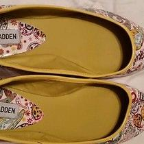 Steve Madden P-Harris Multi Paisley Print Floral Slide Ballet Shoe Size 10m Photo