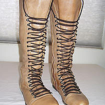 Steve Madden Perrin Leather Knee Tall Corset Grunge Military Knee Boots 9.5 Photo
