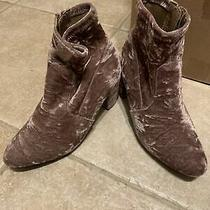 Steve Madden Pink Crushed Velvet Boot Booties Mauve Rose Blush Dusty Pink 9us Photo