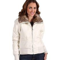 Steve Madden Puff Bomber Jacket in Ivory Size Large Msrp 150.00 Photo