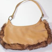 Steve Madden Purse With Faux Fur Trim Cognac Photo