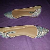 Steve Madden Rainbow Crystal Rhinestone Flats Size 10 Photo