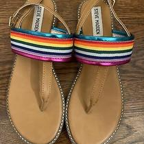 Steve Madden Rainbow Sandals Girls Size 4 Photo