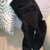 Steve Madden Riding Boots Balen Black Size 9 Suede  Photo