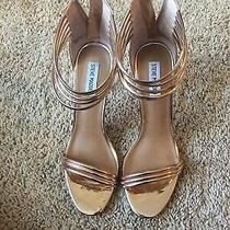 Steve Madden Rose Gold Strappy Ankle Pump Sz 10 Photo