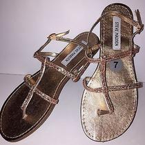 Steve Madden Shakir Rose Gold Glitter Womens Sandals Size 7 Nwob 59 Photo