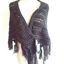 Steve Madden Shawl Brown Nwt Great Gift Photo