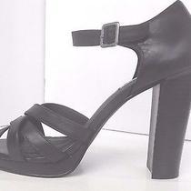 Steve Madden Shoes Sandals Black Leather Closed Back Womens Size 9.5 Medium  Photo