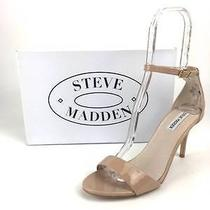 Steve Madden 'Sillly' Blush Patent Leather Minimalist Strap Women Sandals Sz 9.5 Photo