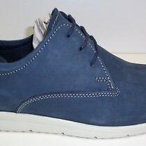 Steve Madden Size 13 M Clay Navy Blue Leather Lace Up Oxfords New Mens Shoes Photo