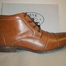 Steve Madden Size 13 M Jayy Cognac Brown Leather Cap Toe Boots New Mens Shoes Photo