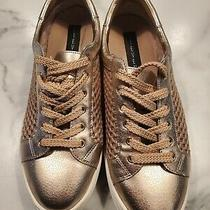Steve Madden Size 7.5 Women's Sneakers Neon Metallic Rose Gold Lace Up Shoes  Photo
