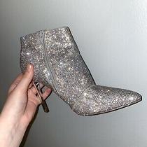 Steve Madden  Size 8 Winona Silver Rhinestone Boots Photo