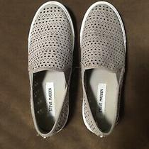 Steve Madden Sneakers Size 8 Patterned Slip on Shoes Light Gray Photo