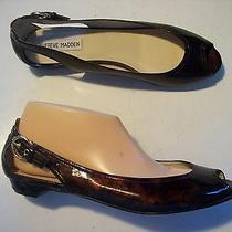 Steve Madden Spair Brown Slip on Low Heels Loafers Shoes Size 8.5  Closet Photo