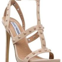 Steve Madden Stay Studded Stiletto Sandals Nude/blush Sz. 10 Photo