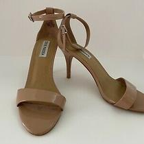 Steve Madden Strappy Heels Beige Pink/blush Silver Buckle Size 7.5 Photo