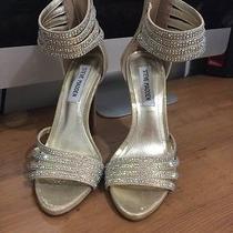 Steve Madden Studded Heels Metallic Gold Heel Shoes Formal Wedding Shoes Photo